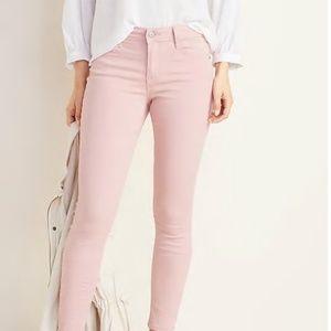Mid-Rise Rockstar Skinny Pop-Color Jeans
